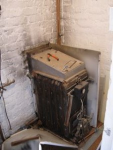 Before: Ancient inefficient boiler