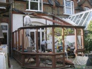 Dismantling an old conservatory