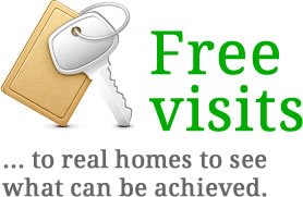 Free visits to real homes to see what can be achieved
